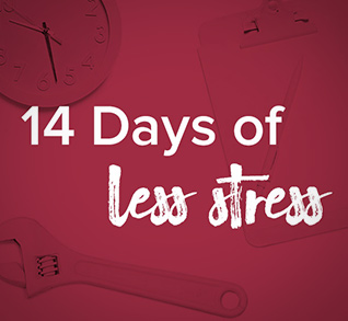 14 Days of Less Stress logo